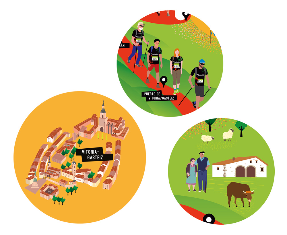 Oxfam Trailwalker Euskadi, detall/ Banc Sabadell