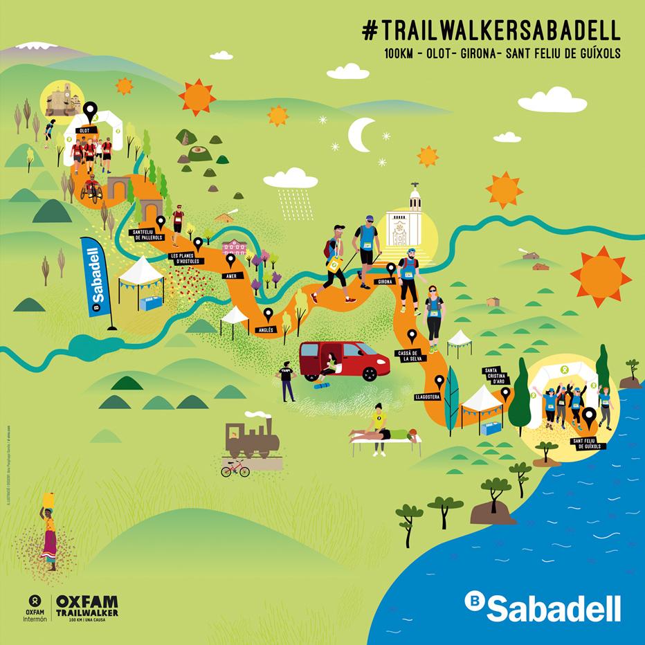 Oxfam Trailwalker Girona / Banc Sabadell