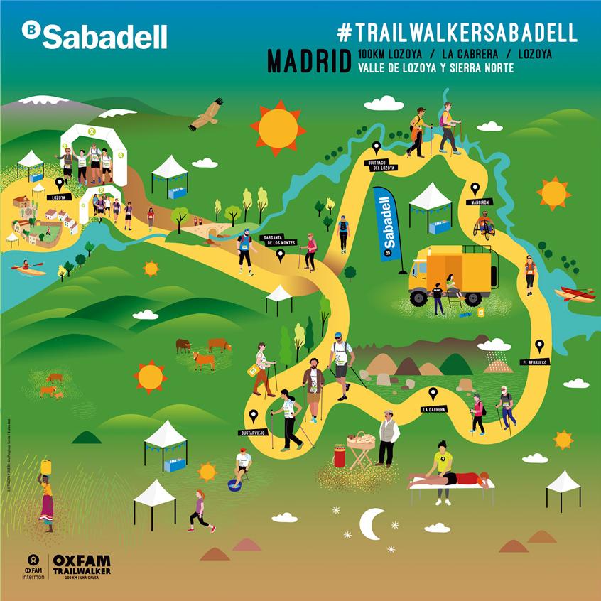 Oxfam Trailwalker Madrid / Banc Sabadell